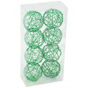 "1.5"" Wire Balls: Emerald Green (8)"
