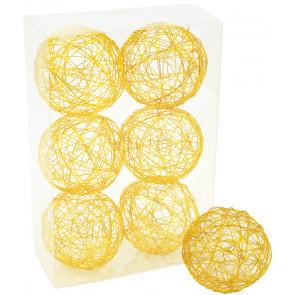 """3"""" Wire Balls: Gold (6)"""