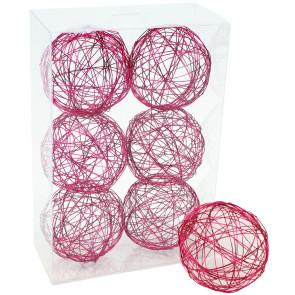 "3"" Wire Balls: Hot Pink (6)"