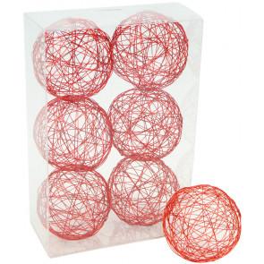 "3"" Wire Balls: Red (6)"
