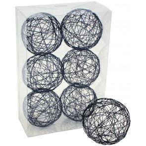 "3"" Wire Balls: Black (6)"