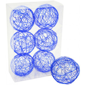 "3"" Wire Balls: Royal Blue (6)"