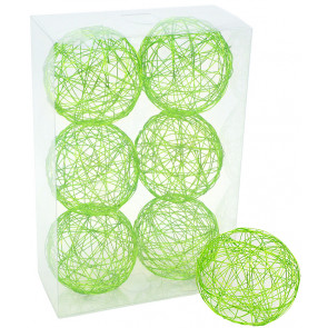 "3"" Wire Balls: Lime Green (6)"