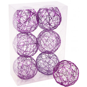 "3"" Wire Balls: Purple (6)"