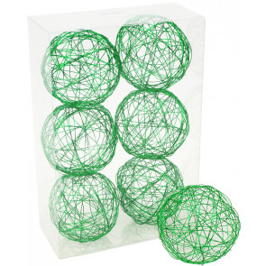 "3"" Wire Balls: Emerald Green (6)"
