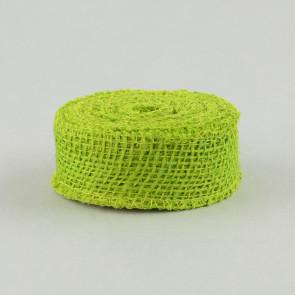 "1.5"" Burlap Ribbon: Apple Green (10 Yards)"