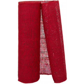 "14"" Red Burlap Fabric Roll (10 Yards)"