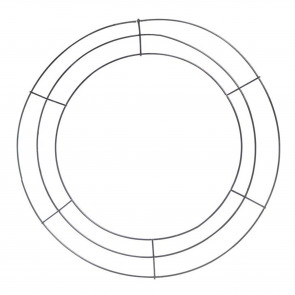 Wire Wreath Form 15-inch: Black