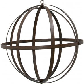 "12"" Wrought Iron Ball: Antique Rust Finish"
