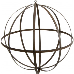 "18"" Wrought Iron Ball: Antique Rust Finish"