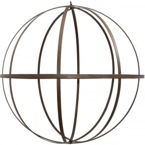 "22"" Wrought Iron Ball: Antique Rust Finish"