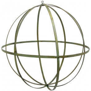 "22"" Wrought Iron Ball: Forest Green"