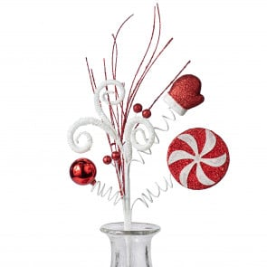 Floral sprays picks christmas for Peppermint swirl craft show