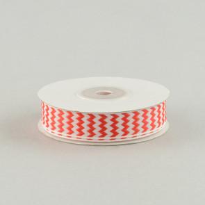 "5/8"" Chevron Ribbon: Red & White"