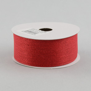 Classic Faux Jute Ribbon: Burgundy Red