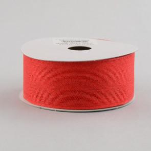 "1.5"" Classic Faux Jute Red Ribbon"