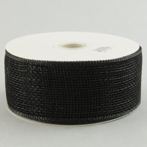 "2.5"" Poly Deco Mesh Ribbon: Black"
