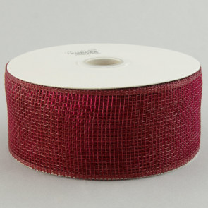"2.5"" Poly Deco Mesh Ribbon: Burgundy"