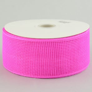 "2.5"" Poly Deco Mesh Ribbon: Hot Pink"