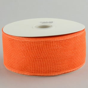 "2.5"" Poly Deco Mesh Ribbon: Orange"