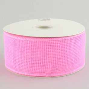 "2.5"" Poly Deco Mesh Ribbon: Light Pink"