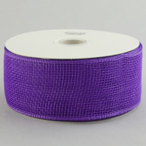 "2.5"" Poly Deco Mesh Ribbon: Purple"