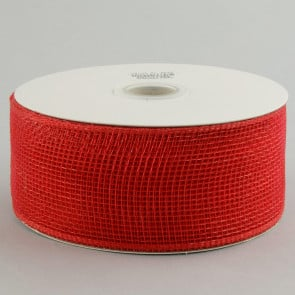 "2.5"" Poly Deco Mesh Ribbon: Red"