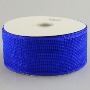 "2.5"" Poly Deco Mesh Ribbon: Royal Blue"