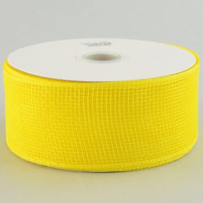 "2.5"" Poly Deco Mesh Ribbon: Yellow"