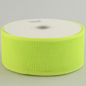 "2.5"" Poly Deco Mesh Ribbon: Apple Green"