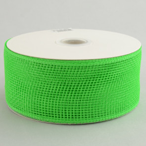 "2.5"" Poly Deco Mesh Ribbon: Lime Green"