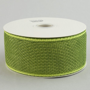"2.5"" Poly Deco Mesh Ribbon: Apple & Moss"
