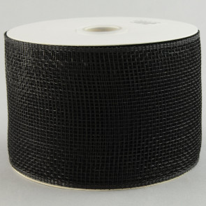 "4"" Poly Deco Mesh Ribbon: Black"