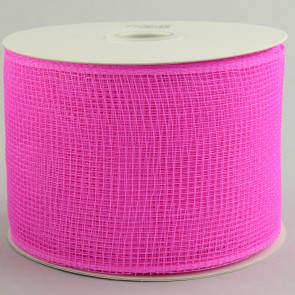 "4"" Poly Deco Mesh Ribbon: Hot Pink"