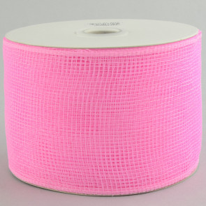 "4"" Poly Deco Mesh Ribbon: Pink"