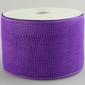 "4"" Poly Deco Mesh Ribbon: Purple"