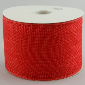 "4"" Poly Deco Mesh Ribbon: Red"