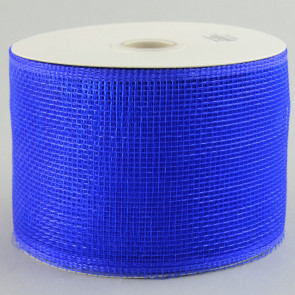 "4"" Poly Deco Mesh Ribbon: Blue"