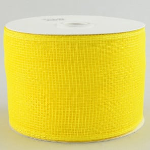 "4"" Poly Deco Mesh Ribbon: Yellow"