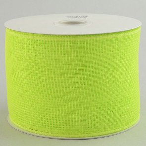 "4"" Poly Deco Mesh Ribbon: Apple Green"