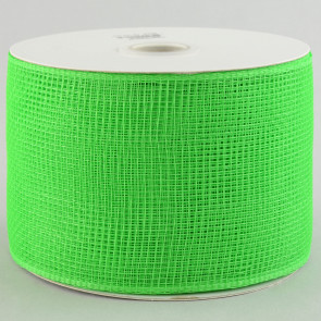 "4"" Poly Deco Mesh Ribbon: Lime Green"