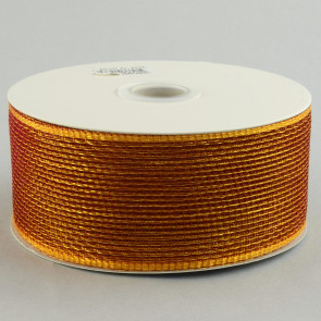 "2.5"" Poly Deco Mesh Ribbon: Burgundy & Gold"
