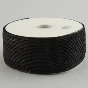 "2.5"" Poly Deco Mesh Ribbon: Metallic Black"