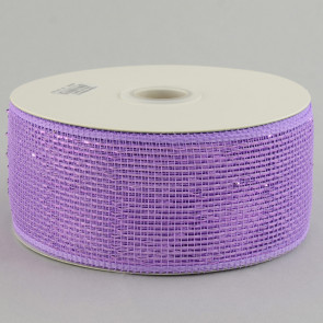 "2.5"" Poly Deco Mesh Ribbon: Metallic Lavender"