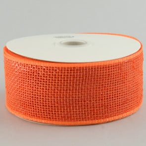 "2.5"" Poly Deco Mesh Ribbon: Metallic Orange"