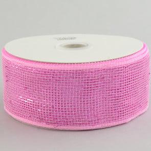 "2.5"" Poly Deco Mesh Ribbon: Metallic Pink"