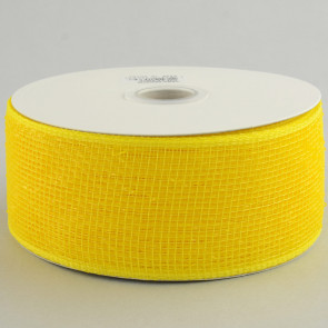 "2.5"" Poly Deco Mesh Ribbon: Matte Yellow"