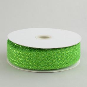 "1.5"" Deco Flex Mesh Ribbon: Metallic Lime Green"