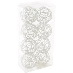"1.5"" Wire Balls: White (8)"