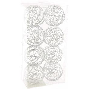 """1.5"""" Wire Balls: Silver (8)"""